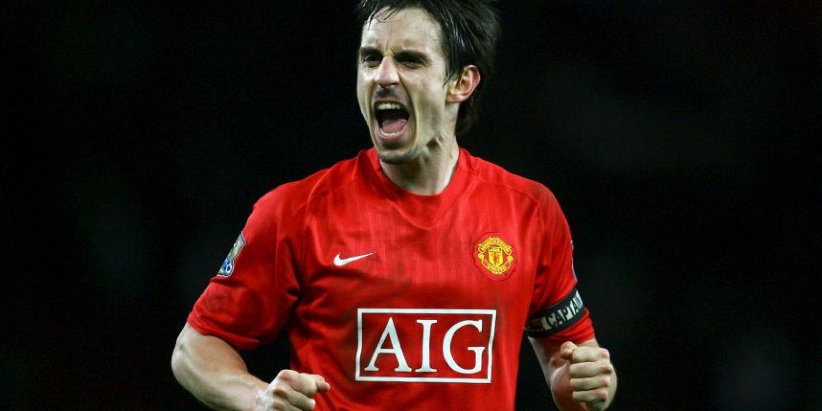 Tres futbolistas del Manchester United se encuentran en la zaga defensiva: Gary Neville Foto:Getty Images