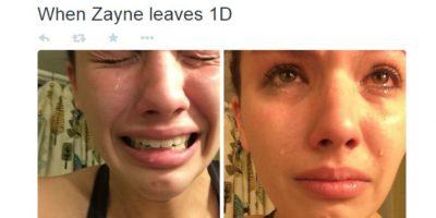 La que llora y muestra sus sentimientos ante una red social que se burlará de ella. Foto:Twitter
