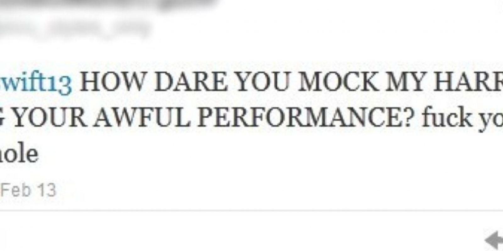 La que amenaza a Taylor Swift por burlarse de Harry Styles. Foto:Twitter