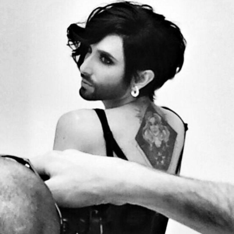 ¡Vean cómo se ve Conchita con el peinado de Zayn! Foto:Instagram