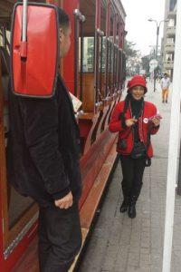 El tranvía realiza entre 3 y 4 recorridos diarios. DEsde las 12:30 p.m. y hasta las 4:00 p.m. los turistas pueden disfrutar del viaje. Foto:Hernán Moreno / Publimetro