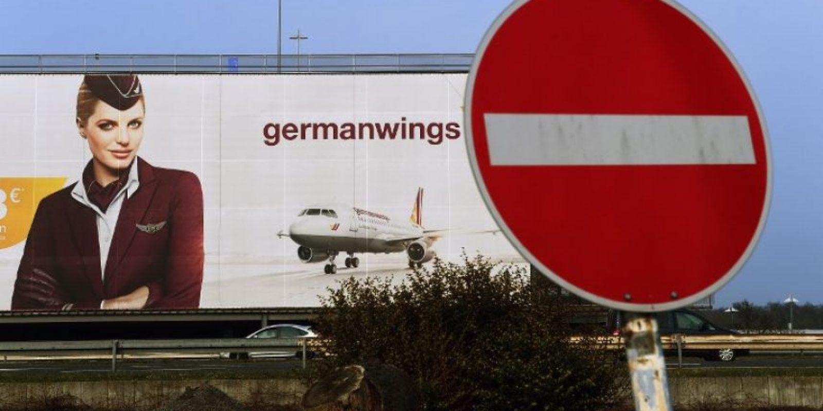 Anuncio de la aerolínea Germanwings al oeste de Alemania Foto:AFP