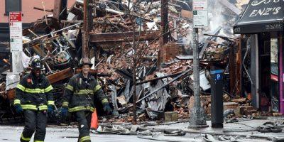 El fuego alcanza 4 edificios. Foto:AFP
