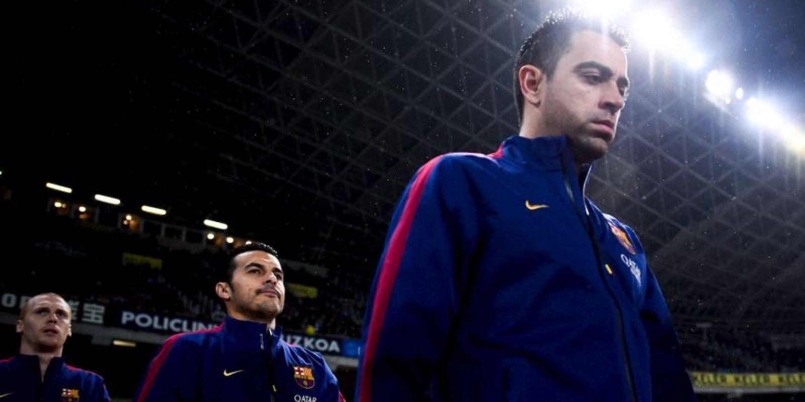 Una lesión de Josep Guardiola en 2000 le permitió a Xavi consolidarse en el primer equipo, y se quedó con el puesto cuando Pep se marchó a Italia. Foto:Getty Images