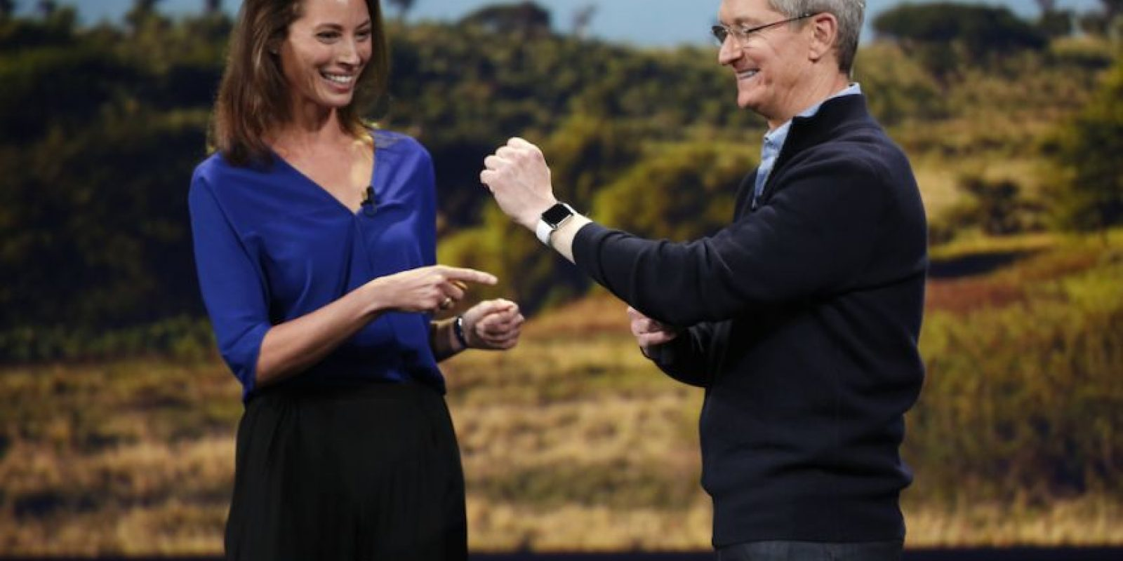 Así lucirá el Apple Watch en la muñeca. Foto: Getty Images