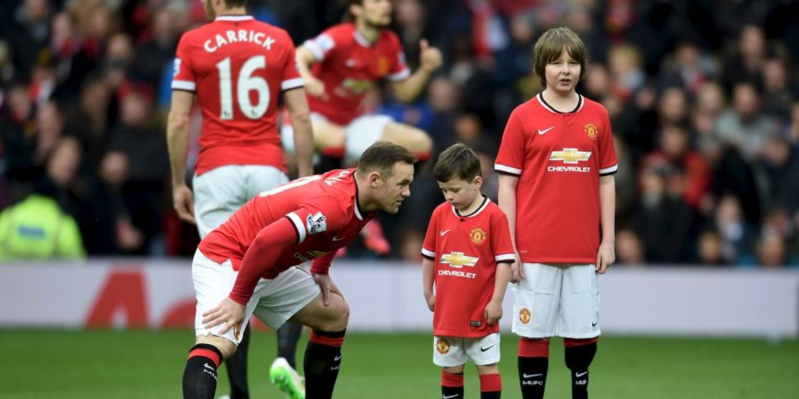 Pero su hijo lo imitó en la escuela, mientras la pareja de Rooney lo veía Foto:Getty Images