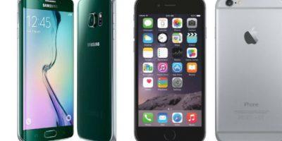 Batería del Samsung Galaxy S6 Edge tiene mayor rendimiento que la del iPhone 6 Plus. Foto:Samsung / Apple