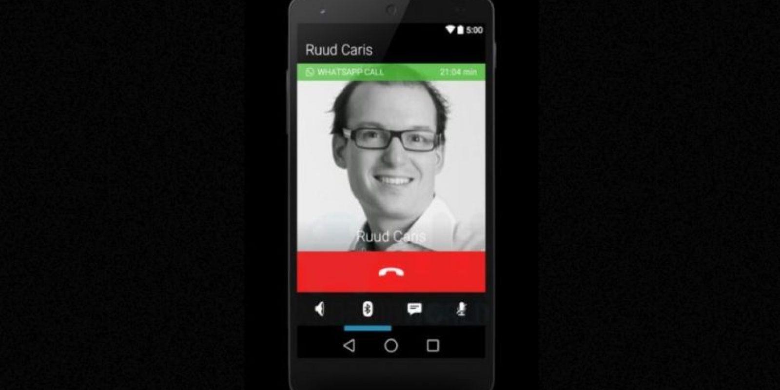 Así se ve la pantalla cuando están en una conversación. Foto:Android World