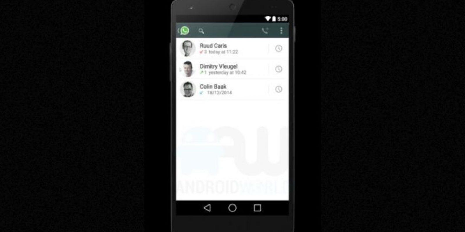 De esta forma se ven los contactos en la app. Foto:Android World