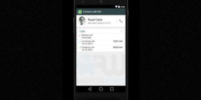 Una cronología de llamadas recibidas, realizadas y perdidas. Foto:Android World
