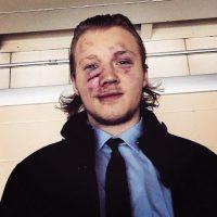 La cara de Ryan Olsen después de un duelo entre IceCaps y Pirates en la AHL Foto:Instagram: @rolsen94