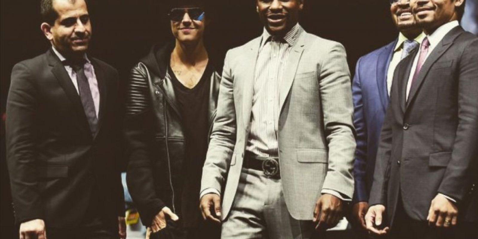 """El cantante canadiense ha sido un gran fanático de boxeo, lo que tuvo que ver en que naciera su amistad con """"Money"""". Foto:Instagram @JustinBieber"""