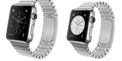 Este es el Apple Watch con brazaletes de acero, en versiones 42 y 38mm. Foto: Apple
