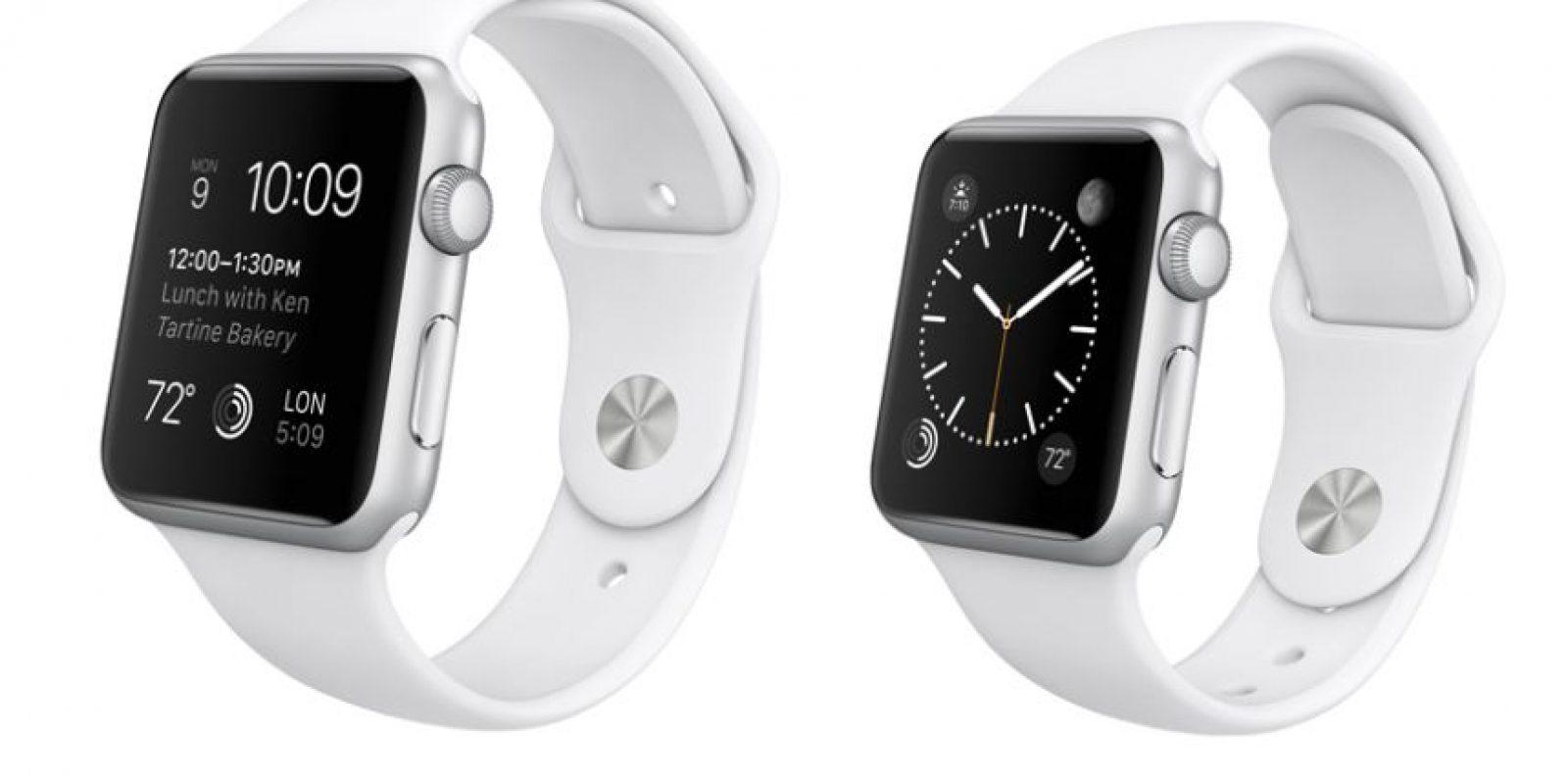 El Apple Watch Sport contará con versiones en 42 y 38mm. Su precio va desde los 350 a los 400 dólares. Foto:Apple