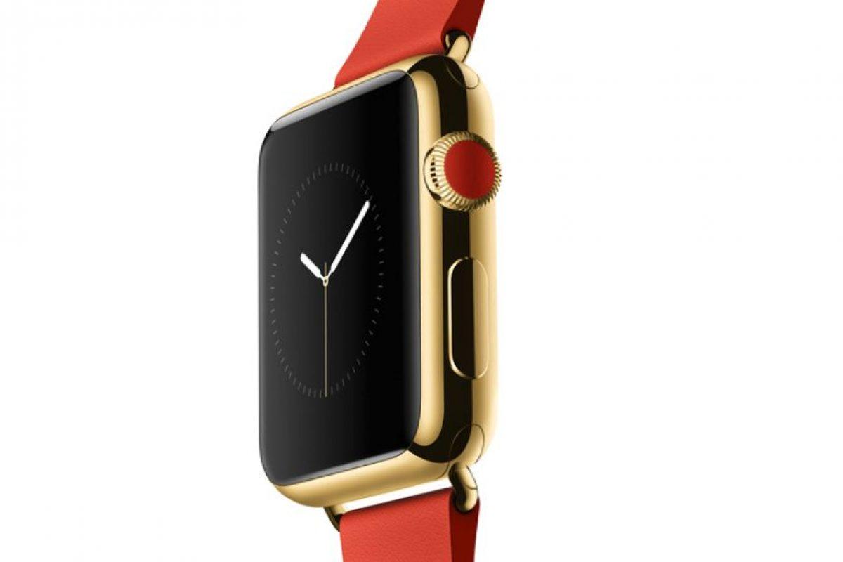 El Apple Watch Edition tendrá un acabado de oro. Su precio oscilará entre 10 mil y 17 mil dólares. Foto:Apple