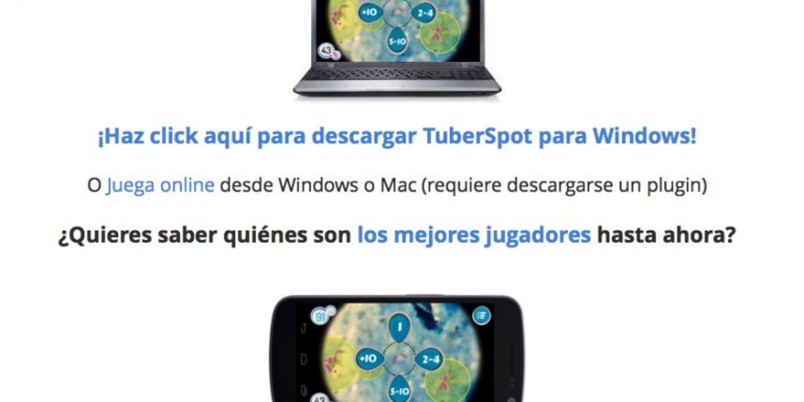 Pueden jugarlo en PC, Mac o smartphone. Foto:tuberspot.org