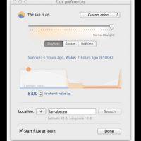 F.Lux es un display que ajusta el brillo de la pantalla del computador según el horario del día. Foto:justgetflux.com