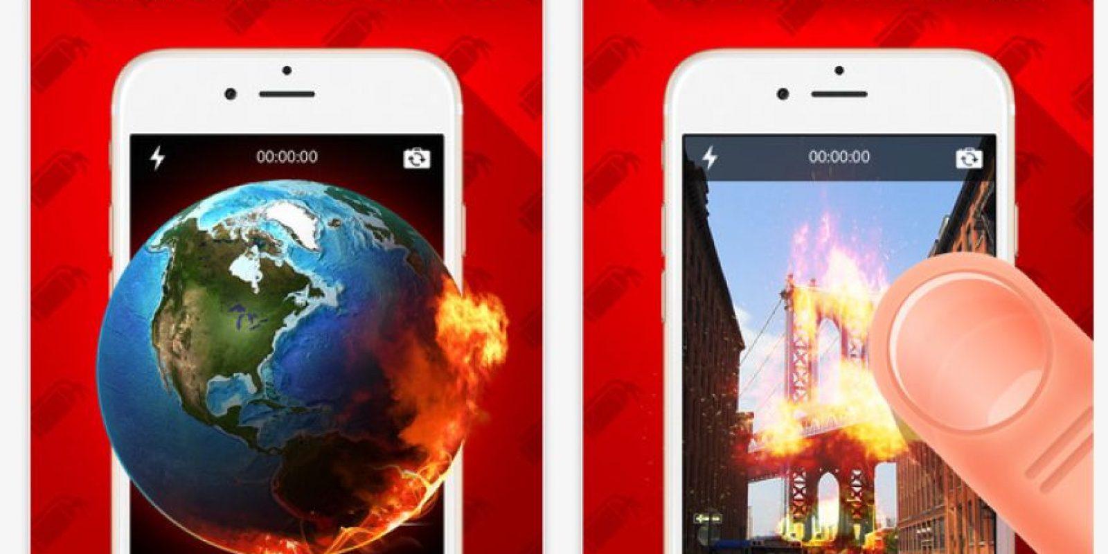Permite añadir efectos de fuego a cualquier lugar de la imagen. Foto:DynamicDust s.r.o.