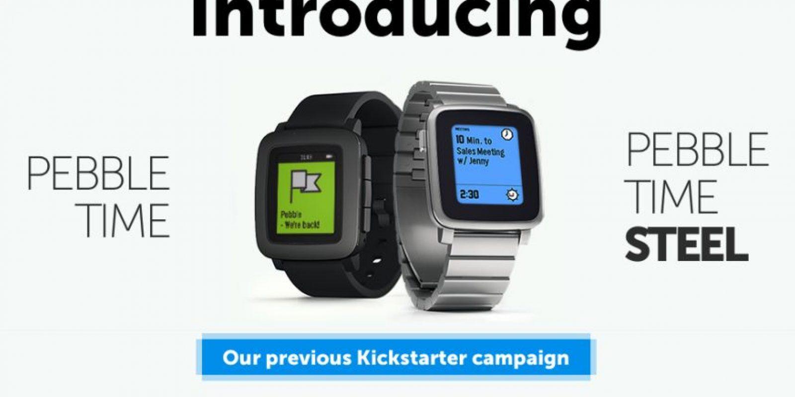 Pebble Watch fue el primer modelo de esta compañia. Foto:Pebble