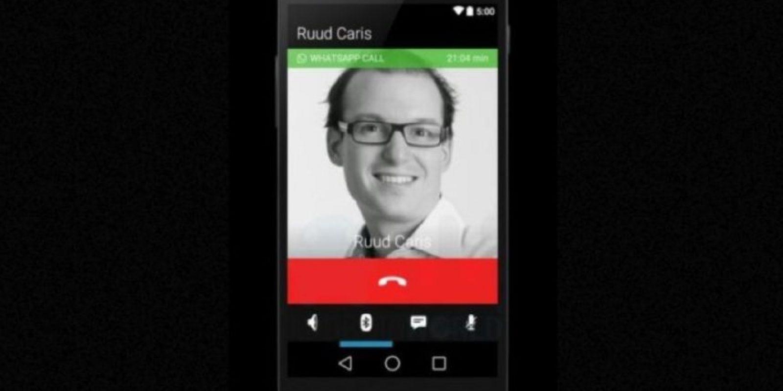 La interfaz cuando realizan una llamada. Foto:Android World