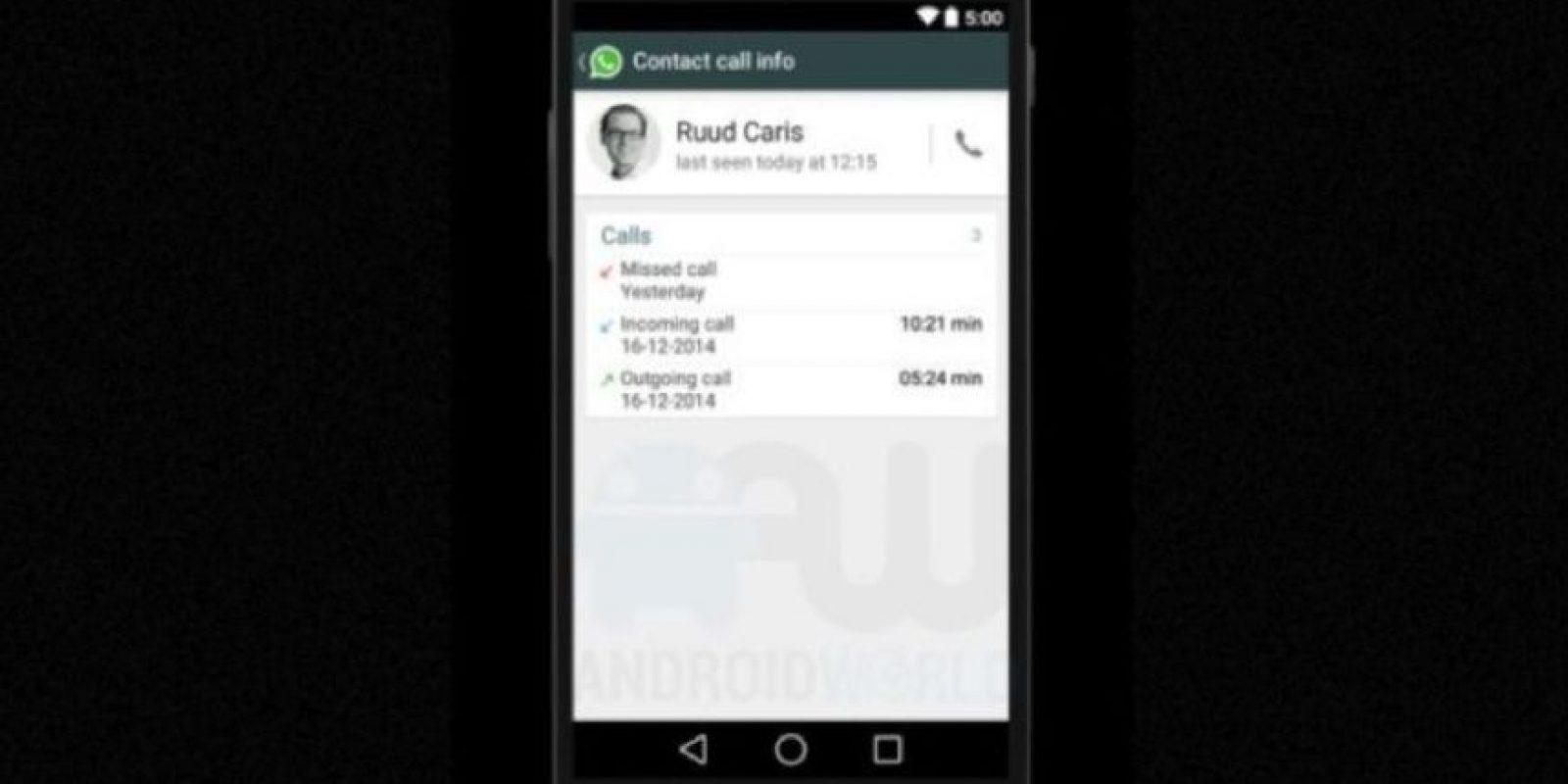 Registros de llamadas específicos de un usuario. Foto:Android World