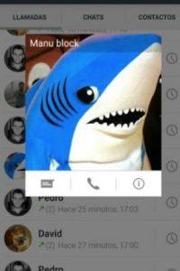 Los contactos en la actualización de WhatsApp. Foto:Twitter
