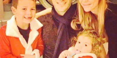 La pareja tiene dos hijos: Martín Bastián y Lolita. Foto:Twitter @evange_anderson