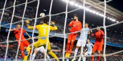 El poderoso trío de Luis Suárez, Lionel Messi y Neymar se topó a una fuerte defensa del Celta que les impidió brillar. Foto:Getty Images