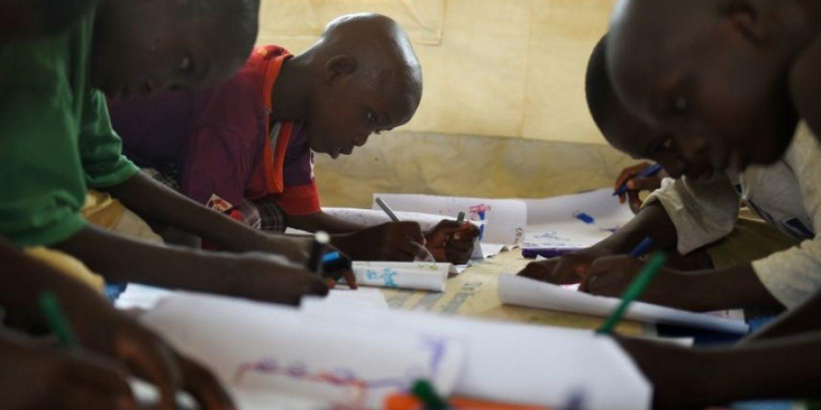 Esta terapia es realizada por la UNICEF en el refugio de Baga Sola Foto:AFP