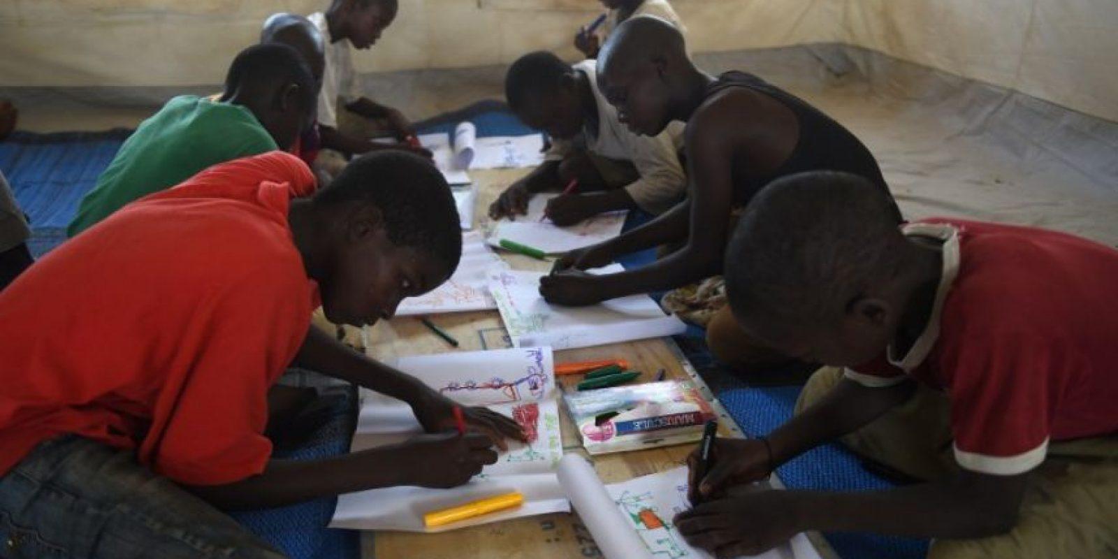 Los dibujos reflejan lo afectado que estan los niños. Foto:AFP