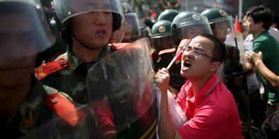 10. En otros países también se realizaron protestas en apoyo a los estudiantes. Foto:Getty