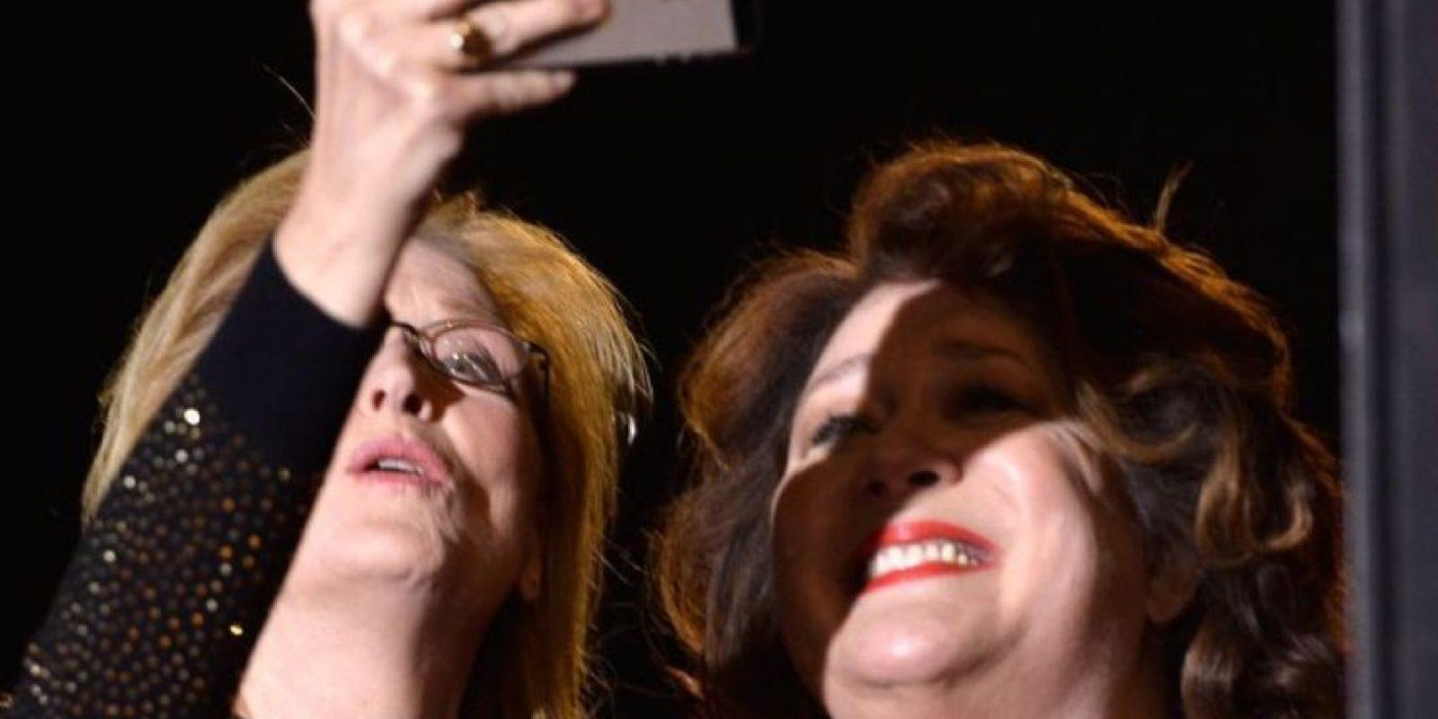 Meryl Streep y Margo Martindale durante un festival de cine. Foto:Getty Images