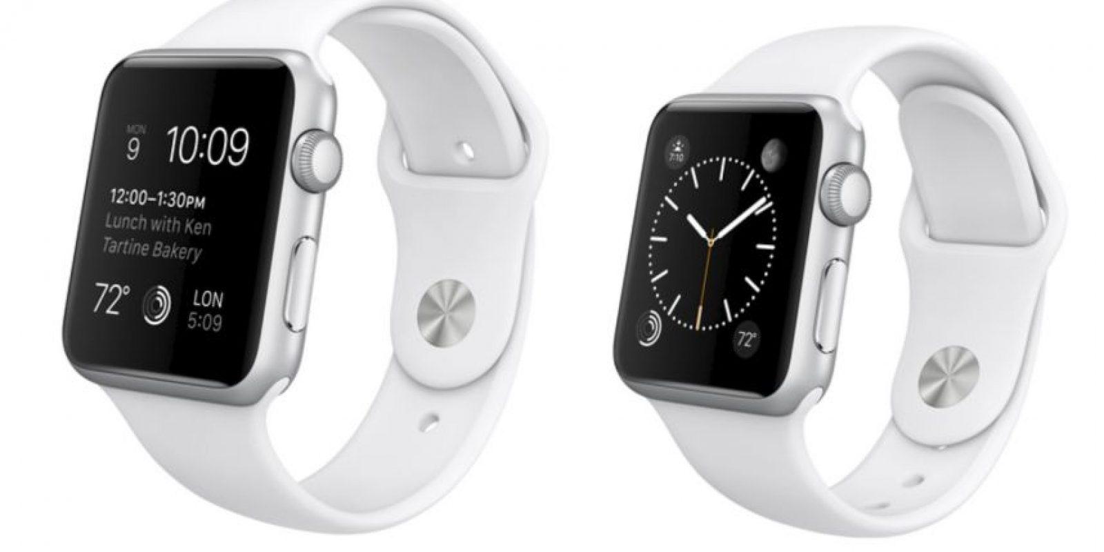 Y este es el Apple Watch Sport. Foto:Apple
