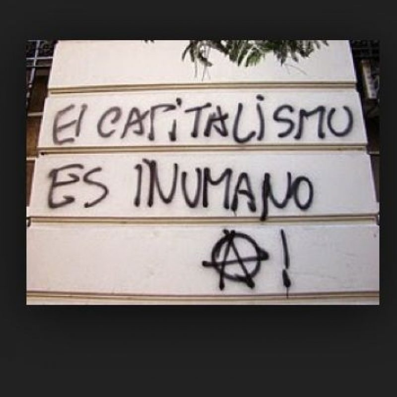 """""""El capitalismo es inhumano"""" Foto:eresnaco.com"""