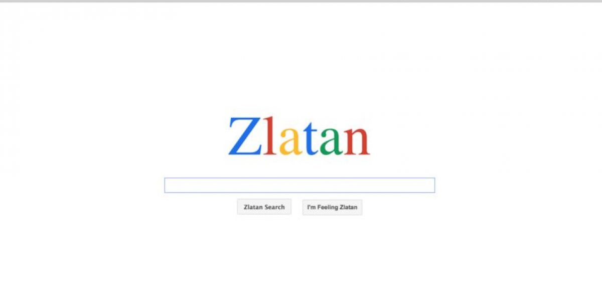 Zlatan estrena motor de búsqueda en internet