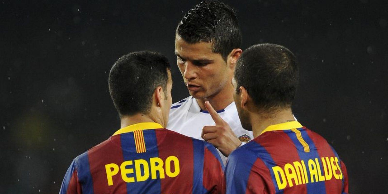 """La primera vez que Cristiano habló públicamente de """"robo"""" fue en 2011 en el Aeropuerto del Prat en Barcelona, tras la eliminación del Real Madrid frente al """"Barça"""" en la Champions League. Foto:Getty Images"""