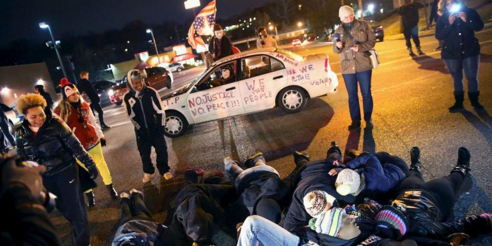 Múltiples ciudades de Estados Unidos se solidarizaron con el caso de Michael Brown y realizaron sus manifestaciones. Foto:Getty Images