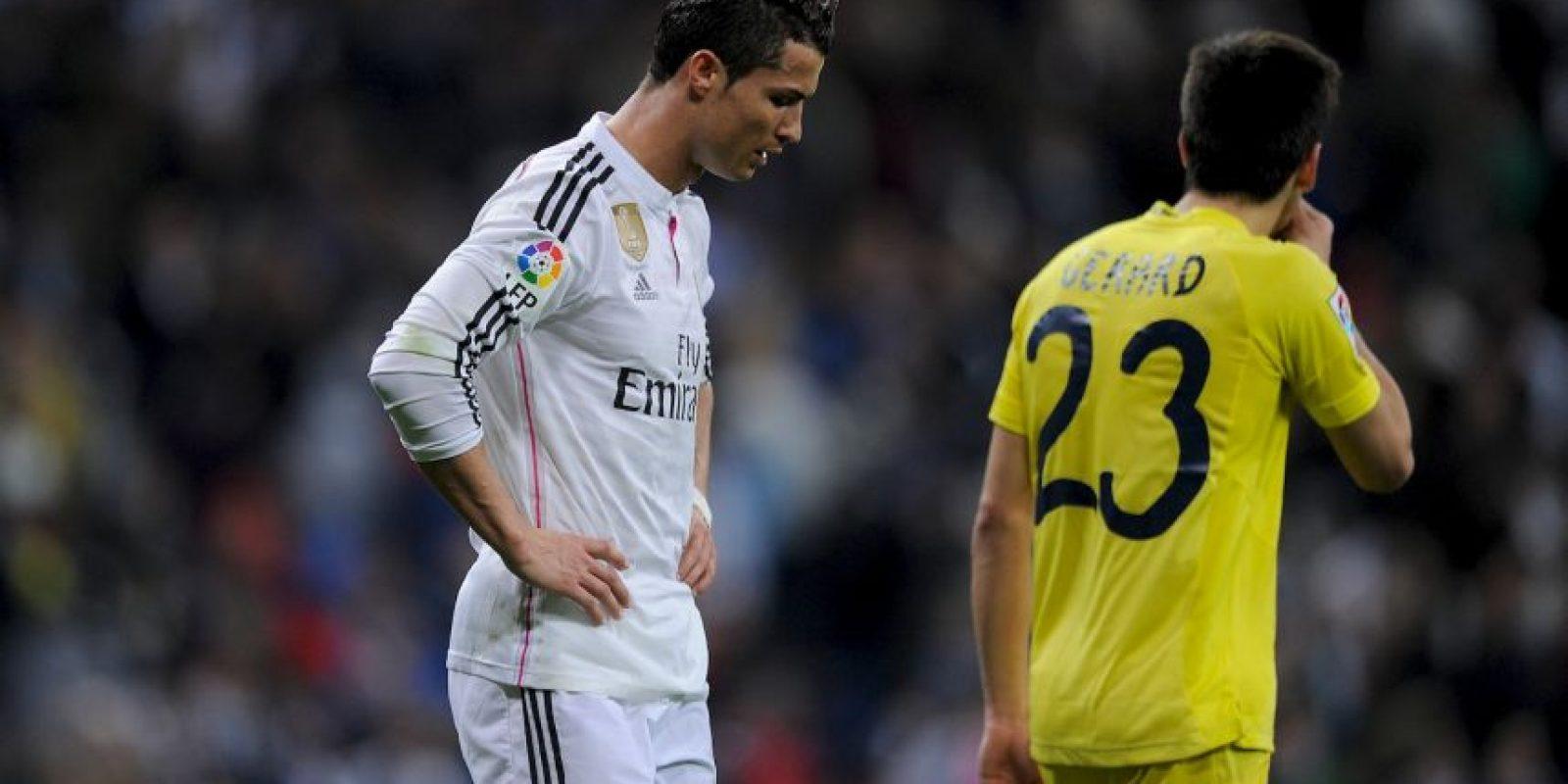 """Al final del encuentro, Cristiano Ronaldo fue captado por las cámaras y le reclamó al central: """"Robar, robar, robar, sólo robar"""", antes de marcharse al vestidor donde ya no saldría nadie del equipo a hacer declaraciones. Foto:Getty Images"""