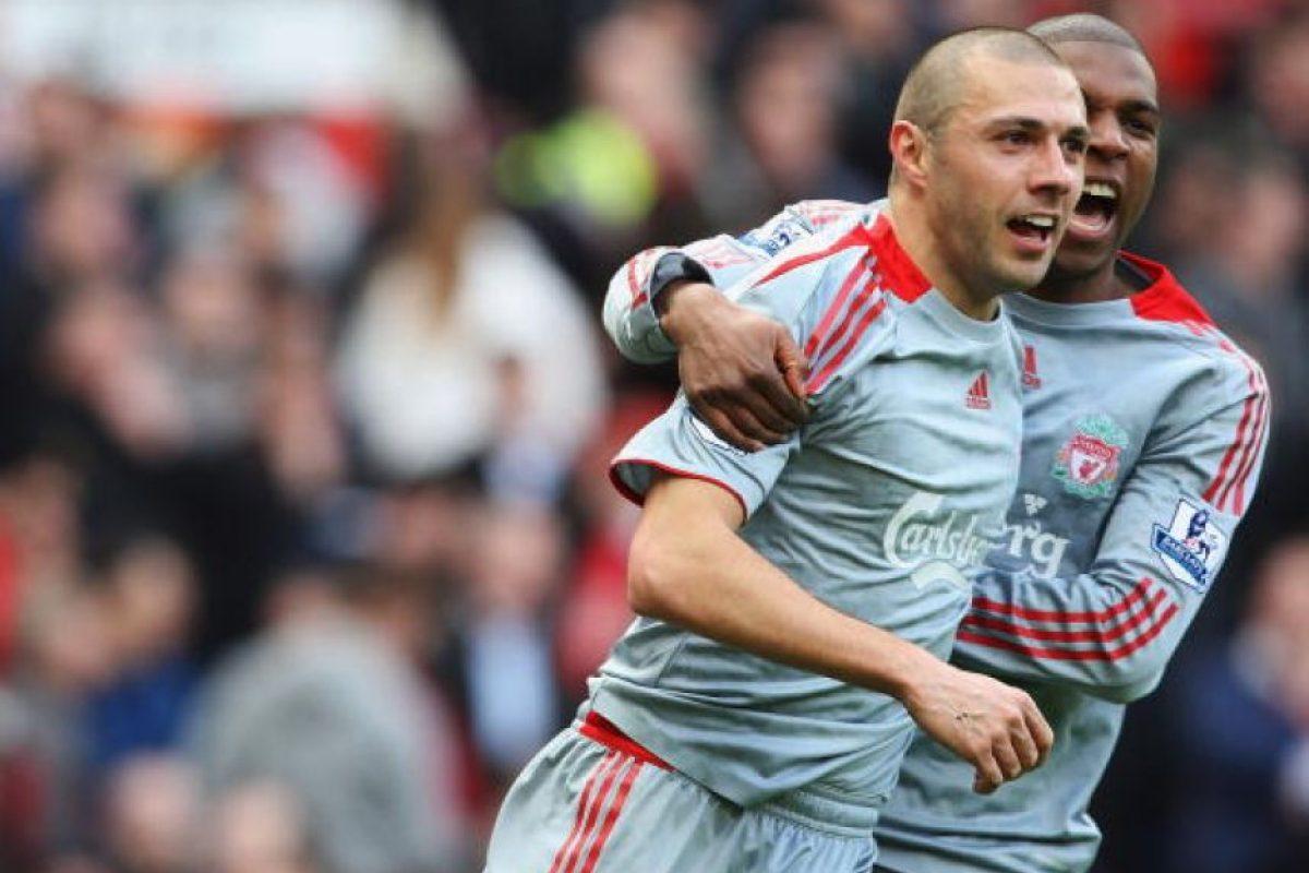 En 2008 jugó para el Liverpool. Foto:Getty Images