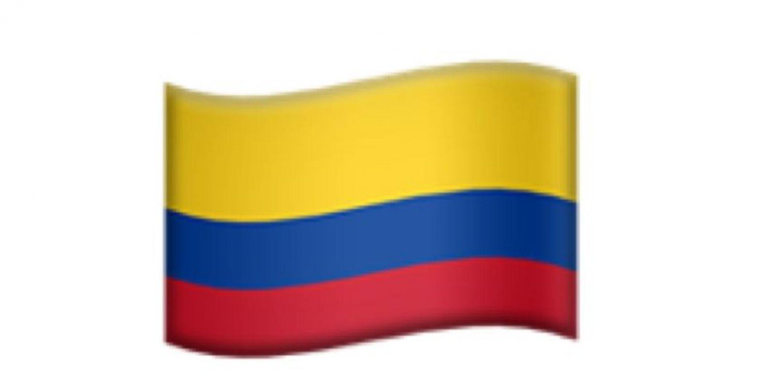 Bandera de Colombia. Foto:Apple