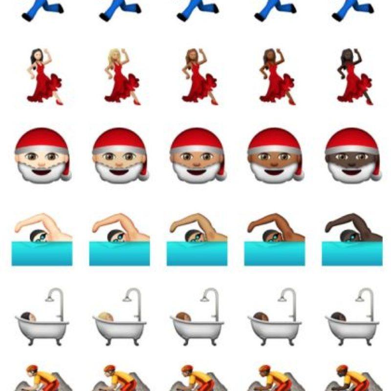 Actividades y personajes también tienen otros colores de piel. Foto:Apple