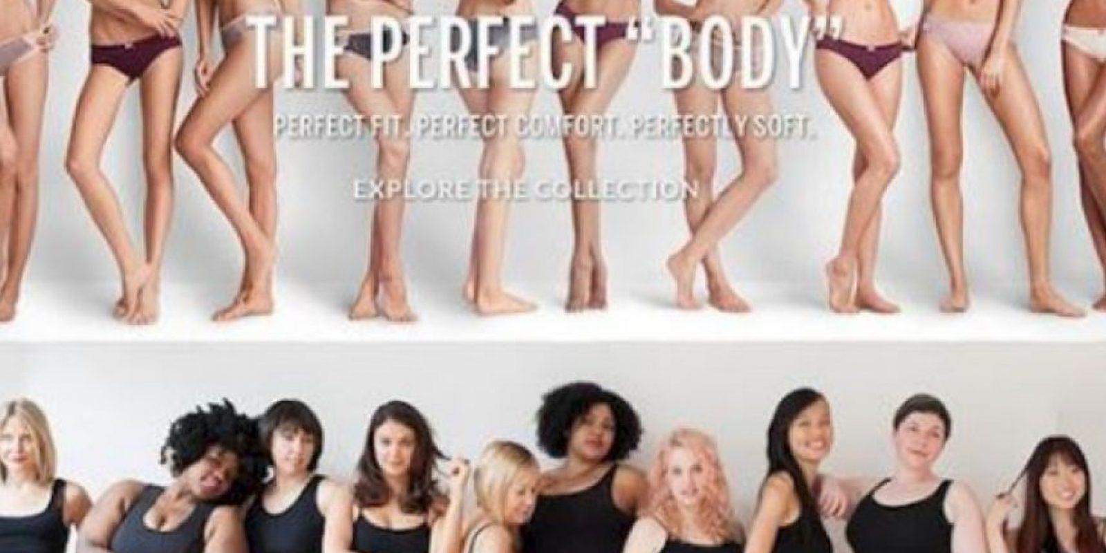 Mujeres de todas las tallas podían participar. Foto:vía Twitter/Perfect Body