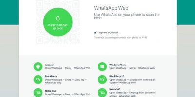 Así luce el sitio web de WhatsApp para el cliente de escritorio. Foto:Web.WhatsApp