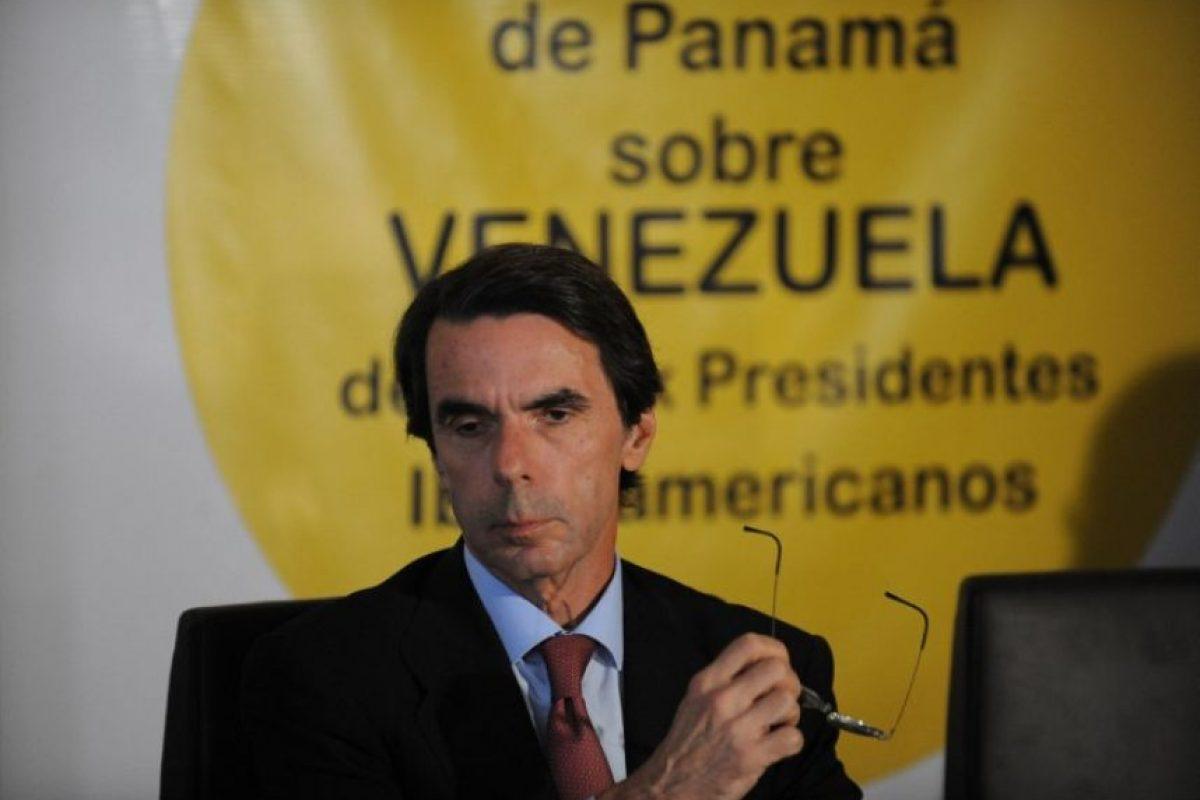 Expresidentes se manifiestan en contra del gobierno de Nicolás Maduro. En la fotografía, el expresidente español José María Aznar Foto:AFP