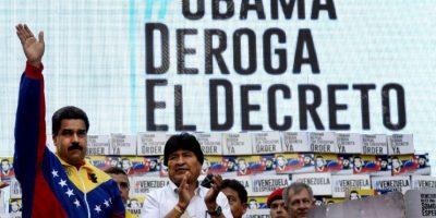 En el evento estuvo acompañado por el presidente de Bolivia, Evo Morales Foto:AFP