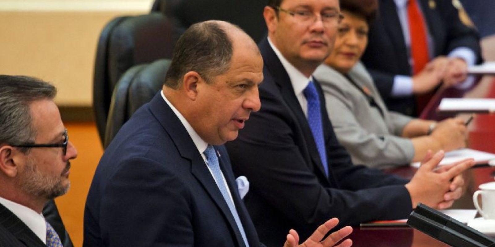 Luis Guillermo Solís, Presidente de Costa Rica – Cumbre Empresarial de las Américas Foto:Getty Images