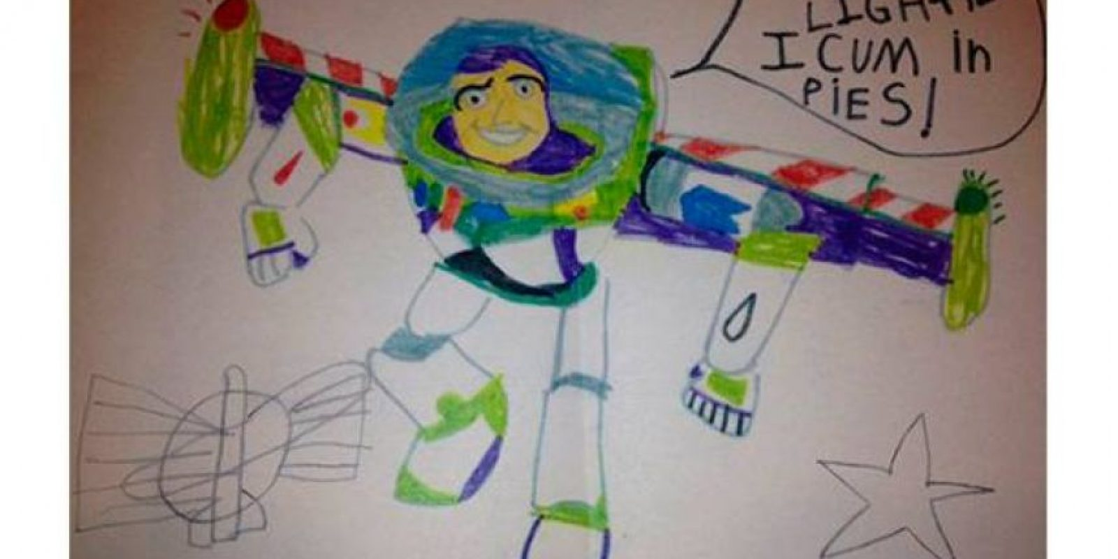 """""""Soy Buzz Lightyear y eyaculo en tu pastel"""". Foto:vía MommyLand"""