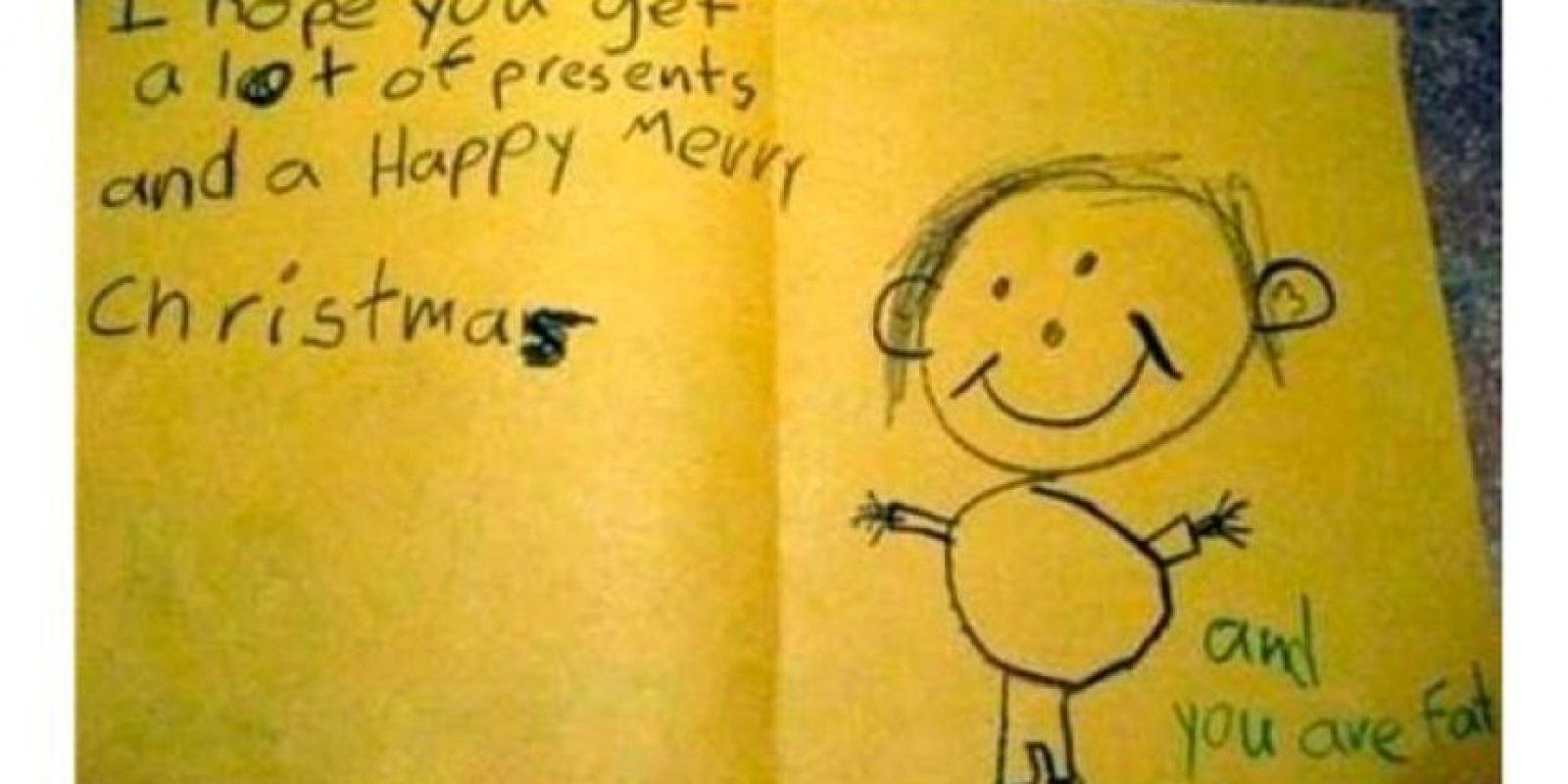 Lindo saludo de Navidad. Y tú eres gordo. Foto:vía MommyLand