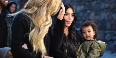 Khloé, Kim y North West Foto:AFP