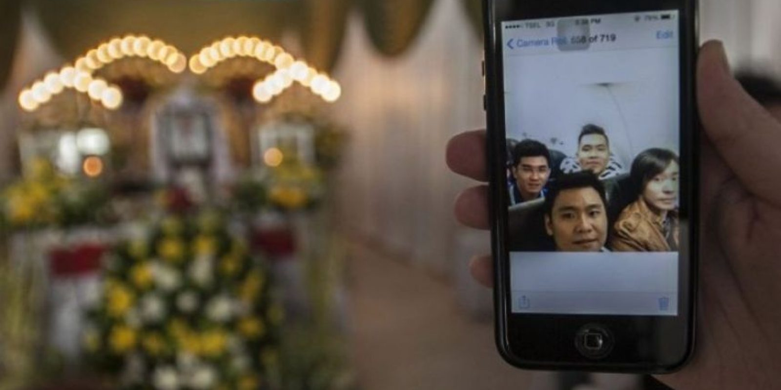 Esta fue la última selfie en el interior del avión Foto:AFP